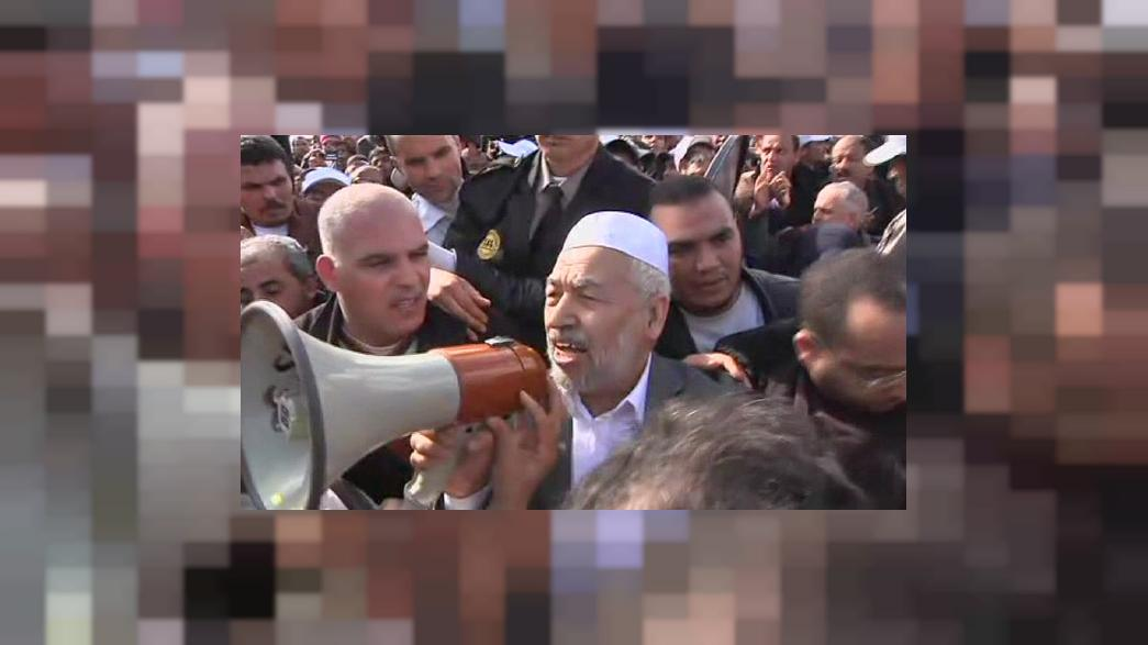 """راشد الغنوشي يرفع دعوى قضائية ضدّ قناة """"سكاي نيوز عربية"""""""