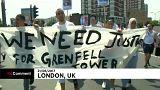 Marcha por las víctimas de la torre Grenfell