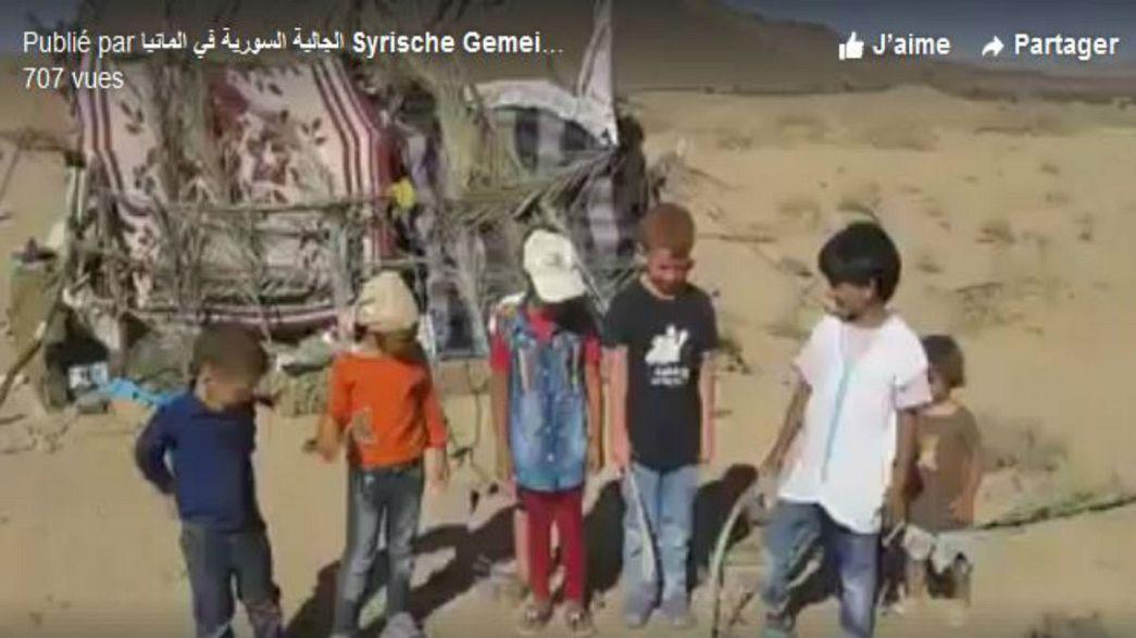 لاجئون سوريون عالقون على الحدود تستقبلهم سلطات المغرب