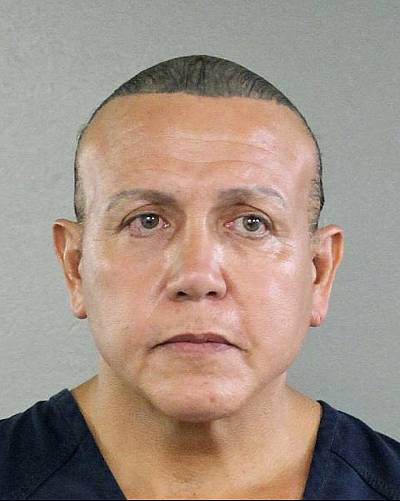 Cesar Sayoc is seen in a booking photo, in Miami on Aug. 30, 2015.