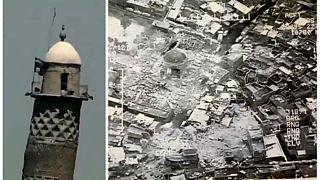 مسجد و گلدسته ۸۵۰ ساله موصل نابود شد
