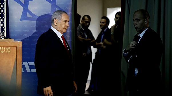 Image: Israeli Prime Minister Benjamin Netanyahu arrives to deliver a state