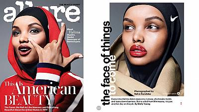 Somali star is first hijab-wearing model on cover of top US magazine
