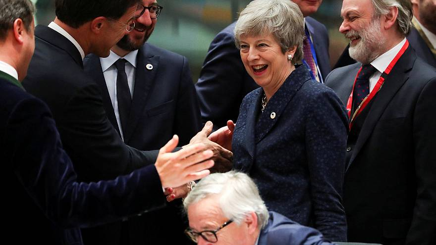 Image: Theresa may, European Union leaders summit in Brussels