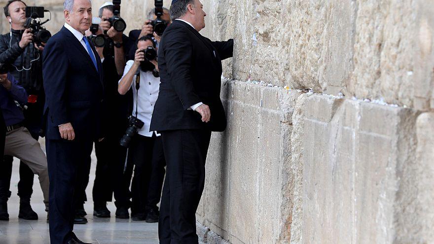 Image: Mike Pompeo  Benjamin Netanyahu