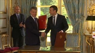 Macron et Santos ensemble pour la paix