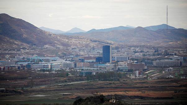 Image: The inter-Korean Kaesong Industrial Complex as seen from the Dora ob