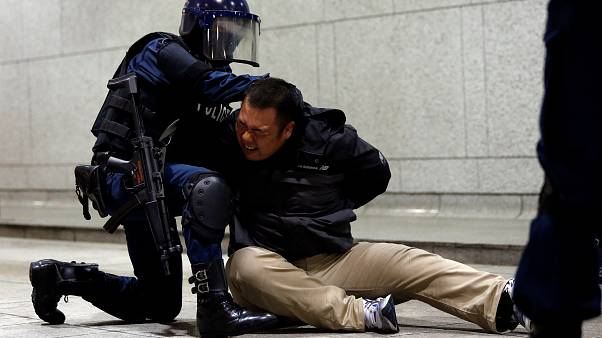 Japan's security forces prepare for Olympic games