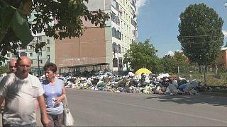 Un escombrero en Ucrania