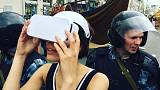Moscow artist 'arrested for wearing a virtual reality headset'