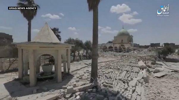 Ερείπια το ιστορικό Μεγάλο Τέμενος αλ Νούρι