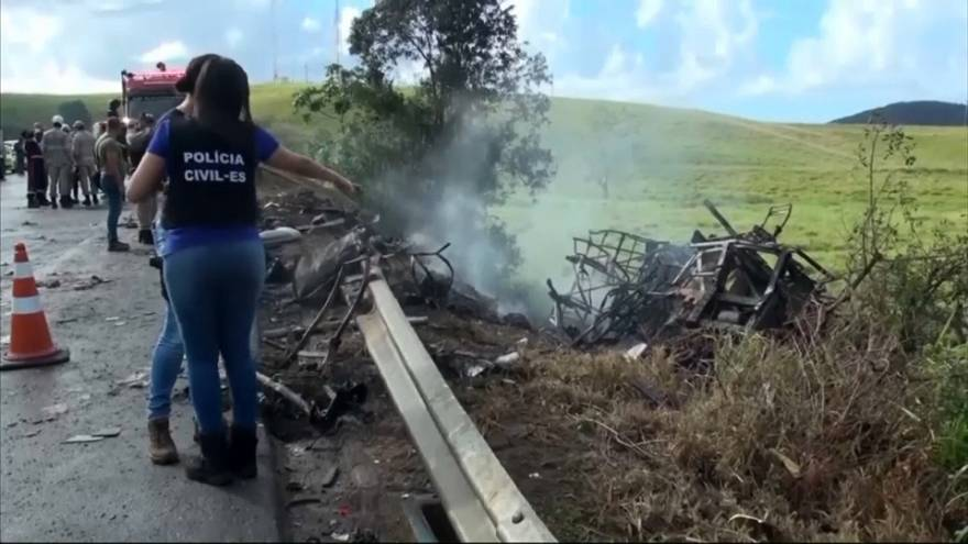 Mortífero accidente múltiple en Brasil