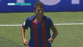 FC Barcelona youth player scores incredible goal from midfield