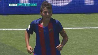 FC Barcelona: Traumtor eines U-12-Spielers