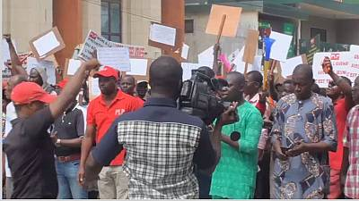 "Beninese took to the streets to protest against ""bad governance"""
