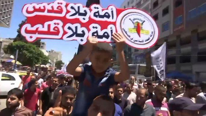 شاهد: الفلسطينيون يحيون يوم القدس