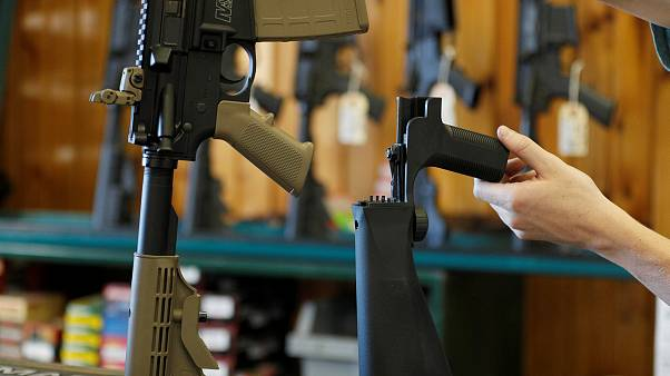 Image: A bump stock that attaches to an semi-automatic assault rifle to inc