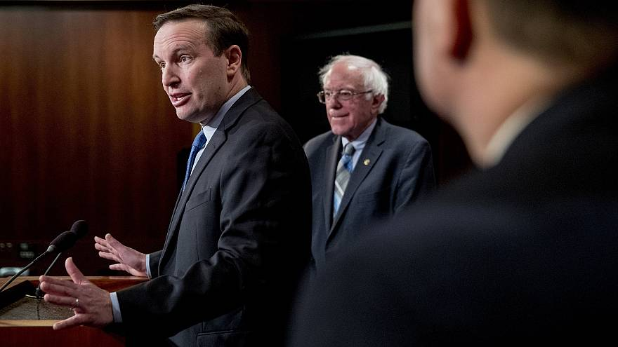Image: Sen. Chris Murphy, D-Conn., speaks at a news conference on Capitol H