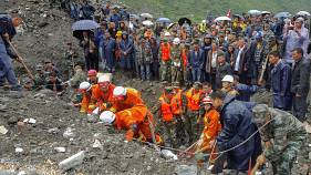 Cina: valanga travolge intero villaggio