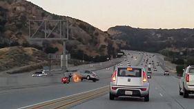 [Watch] Road rage incident sparks motorway crash