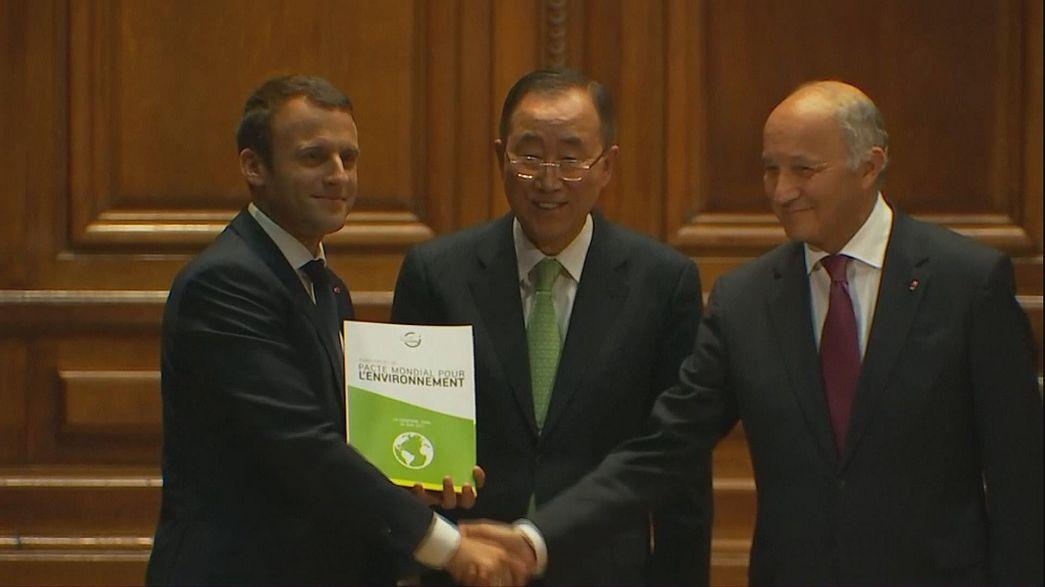 Macrón lanza un Proyecto de pacto mundial por el medioambiente