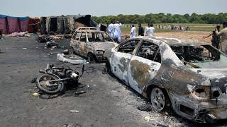 Pakistan oil tanker blast kills more than 140 people
