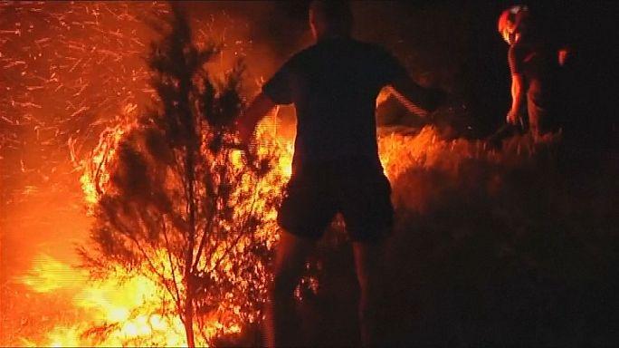 Yangınlar bu kez İspanya'yı sardı