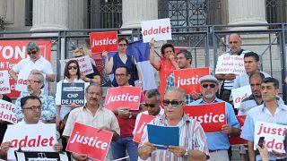 Fransa: Adalet yürüyüşüne Lyon Adalet Sarayı önünden destek