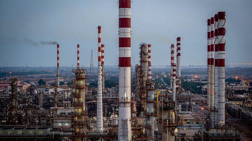 Image: The Persian Gulf Star Co. gas refinery in Bandar, Iran, on Jan. 9, 2