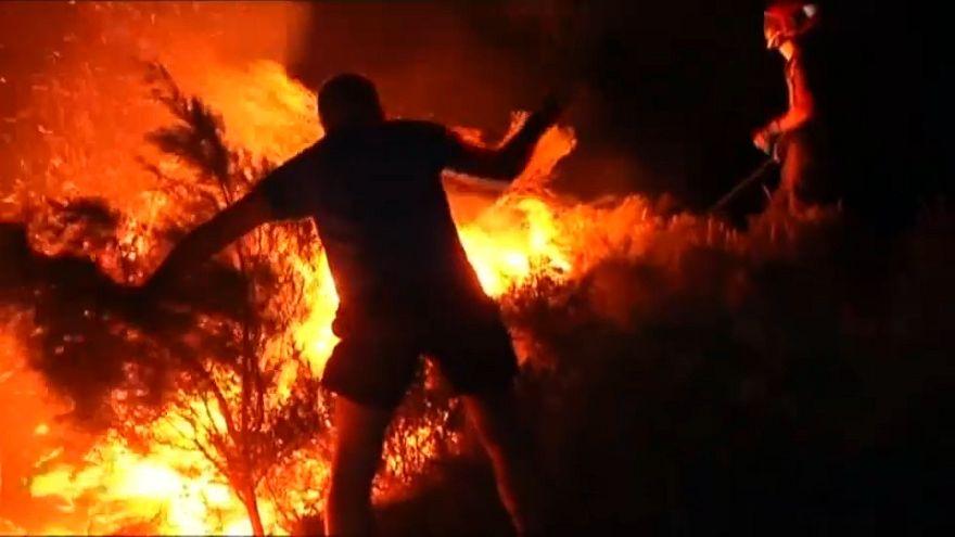 Erős széllel küzdenek a tűzoltók Spanyolországban is