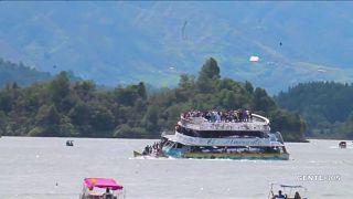غرق شدن قایق گردشگری در کلمبیا در کمتر از ۵ دقیقه