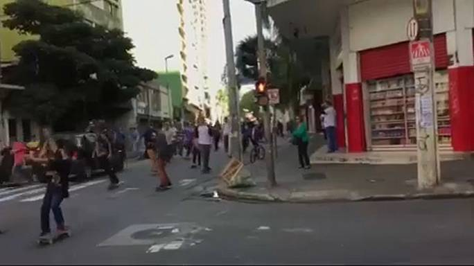 Atropello múltiple en una concentración de skaters en Brasil