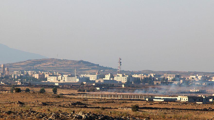 حمله اسرائیل به مواضع ارتش سوریه در بلندیهای جولان