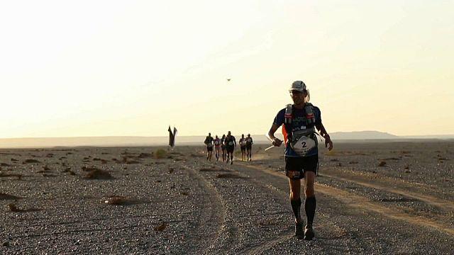 Course de l'extrême dans le désert de Gobi