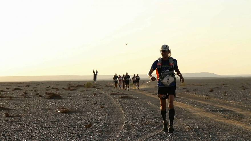 Uma corrida através do deserto de Gobi