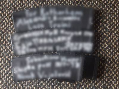 Grab from a video showing messages on the weapons allegedly used by the New Zealand gunman.