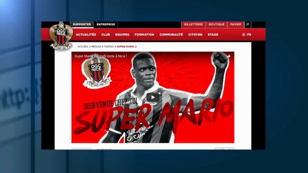 Balotelli renova com o Nice e continua a jogar em França