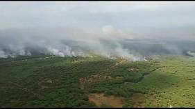 Aumentan los efectivos para combatir el incendio de Doñana