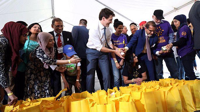 شاهد: الوزير الأول الكندي يشارك في يوم تضامني بمناسبة عيد الفطر