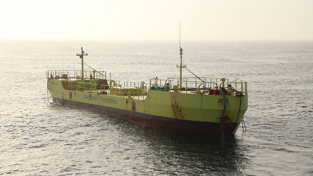 Image: The ATIR tidal energy converter by Magallanes Renovables is the late