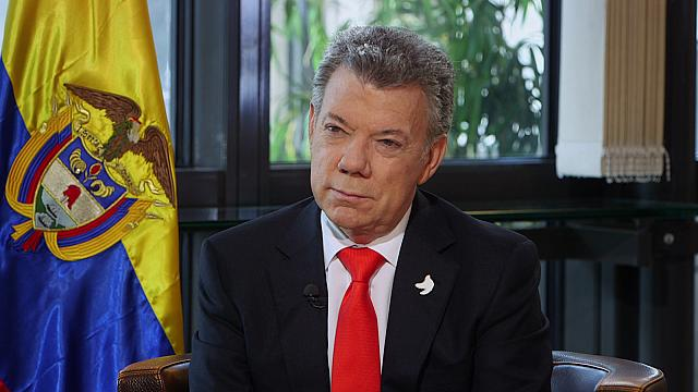 President Santos of Colombia: you have to draw a line between peace and justice