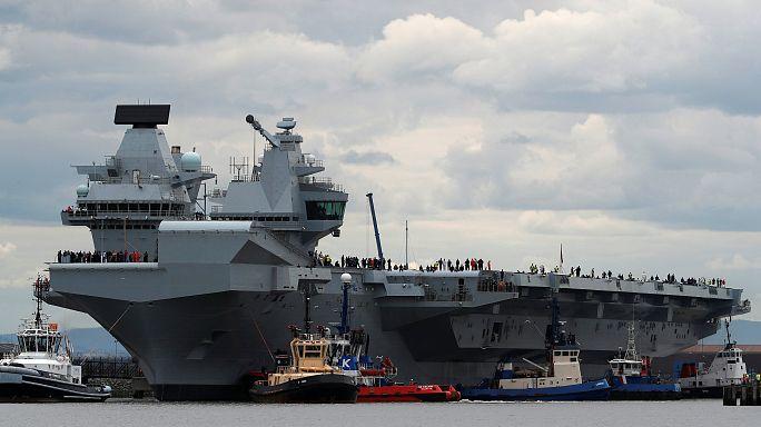 HMS Queen Elizabeth sets sail