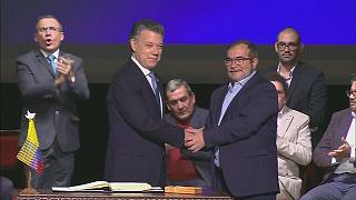 Celebrations in Colombia as FARC disarmament completed