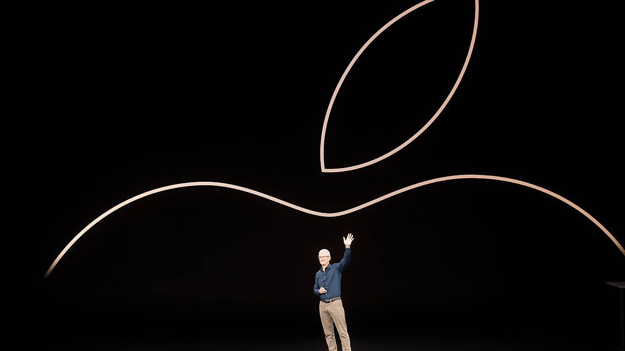 Image: Apple CEO Tim Cook at an event in Cupertino, California, on Sept. 12