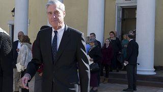 Image: Special Counsel Robert Mueller departs St. John's Episcopal Church n