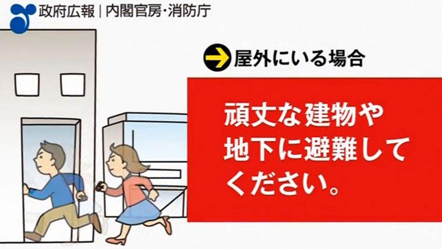 Was wäre wenn: Japan warnt Bürger mit Video vor Raketenangriff