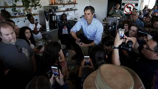 Image: Democratic presidential candidate Beto O'Rourke speaks at a campaign