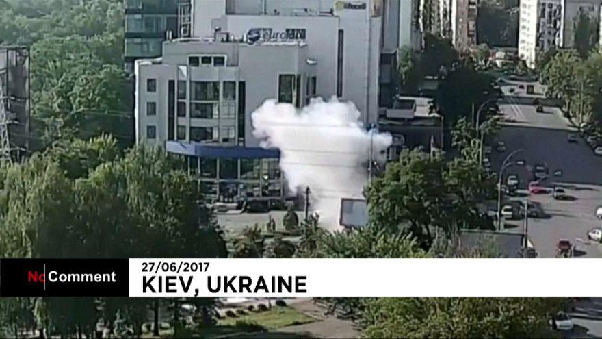 Ukrayna'nın başkenti Kiev'de patlama anı