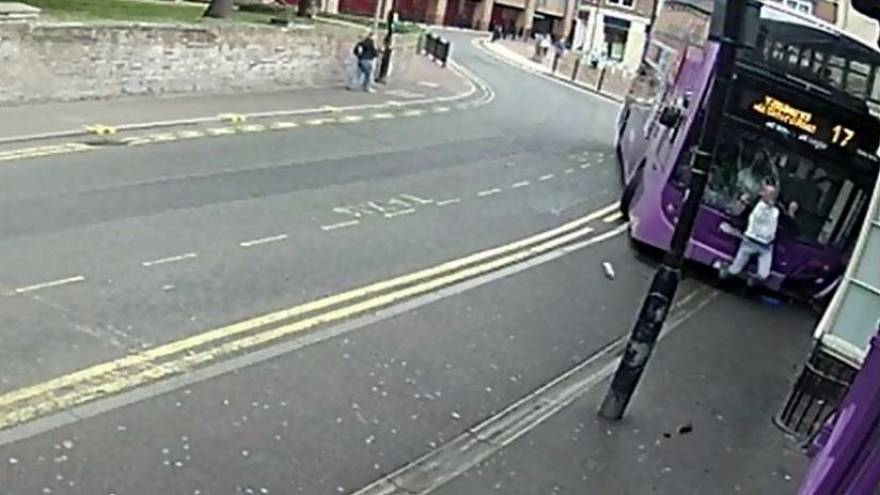 Man flattened by bus heads straight to pub