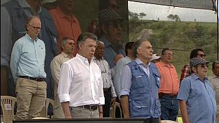 'Goodbye weapons, goodbye war, welcome peace' Colombia celebrates
